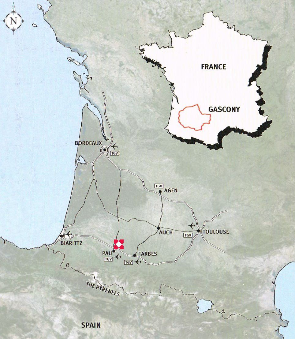 Map Of France Gascony.Home